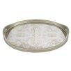 Badash Crystal Manta Silver Oval Tray