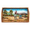 Badash Crystal Golf Small Rectangle Tray