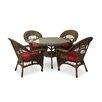 ElanaMar Designs Madison 5 Piece Dining Set with Cushions