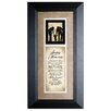 The James Lawrence Company 'Saving Our Memories' Framed Textual Art
