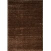 Kalora Boulevard Glitz Low Pile Dark Brown Area Rug