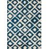 Kalora Maroq Cream/Blue Diamonds Area Rug