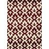 Kalora Casa Geometric Lilypad Cream/Red Area Rug