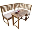 Destiny Amalfi Acacia Wood Garden Bench