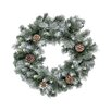 Hometime Snowtime Frosted Glacier Wreath