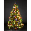 Hometime Snowtime 7.5' Green Pre-Lit Charlotte Spruce Artificial Christmas Tree with 700 Color Lights