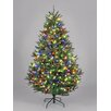 Hometime Snowtime 7.5' Green Pre-Lit Boston Spruce Artificial Christmas Tree with 850 Color Lights