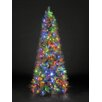 Hometime Snowtime 6.6' Green Pre-Lit New England Pine Artificial Christmas Tree with 350 Color Lights