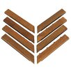 "Cortesi Home EZ-Floor  1"" x 12 "" Corner Tile Trim in Teak (Set of 8)"