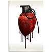 """Cortesi Home """"Heart Grenade"""" by Nicklas Gustafsson Graphic Art on Wrapped Canvas"""