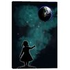 "Cortesi Home ""The Girl that Holds the World"" by Nicklas Gustafsson Graphic Art on Canvas"
