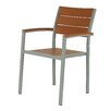 Cortesi Home Avery Stacking Dining Arm Chair (Set of 2)