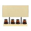 "Cortesi Home LumiRock 15"" H Table Lamp with Rectangular Shade"