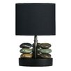 """Cortesi Home Lumi Rock 14"""" H Table Lamp with Drum Shade"""