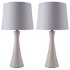 """Milton Green Star Riley 26"""" H Table Lamp with Empire Shade (Set of 2)"""
