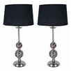 """Milton Green Star Ramona 30"""" H Table Lamp with Empire Shade (Set of 2)"""