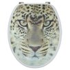 Sanwood 3D Leopard Elongated Toilet Seat