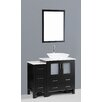 "Bosconi Contemporary 42"" Single Bathroom Vanity Set with Mirror"