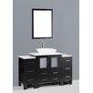"""Bosconi Contemporary 54"""" Single Bathroom Vanity Set with Mirror"""