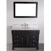 "Bosconi Contemporary 43"" Single Bathroom Vanity Set with Mirror"
