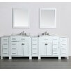"Bosconi 100"" Double Bathroom Vanity Set with Mirror"