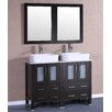 "Bosconi 48"" Double Vanity Set with Mirror"