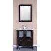 """Bosconi 30"""" Single Vanity Set with Mirror"""