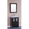 """Bosconi 24"""" Single Vanity Set with Mirror"""