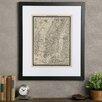 Birch Lane Vintage New York City Map Framed Print