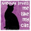 Thirstystone Nobody Loves Me Like My Cat Coaster (Set of 4)