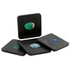 Thirstystone Square Marble Coaster with Agate Inlay (Set of 4)