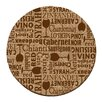 Thirstystone Wine Words Cork Coaster Set (Set of 6)