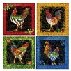 Thirstystone 4 Piece Rooster Flourish Coaster Set