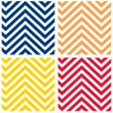 Thirstystone Bright Colors Chevrons Occasions Coasters Set (Set of 4)