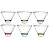 Majestic Crystal Confetti Stemless Wine Glass (Set of 6)