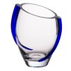 Majestic Crystal Glass Vase with Swirl
