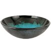 Kingston Brass Fauceture Turquoise Space Glass Round Bathroom Sink