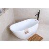 "Kingston Brass Aqua Eden 59"" x 29.13"" Soaking Bathtub"