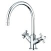 Kingston Brass Concord Double Handle Kitchen Faucet