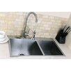 "Kingston Brass Uptowne 31.5"" x 20.5"" Self-Rimming 70/30 Offset Double Bowl Kitchen Sink"