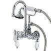 Kingston Brass Aqua Eden Wall Mount Clawfoot Tub Faucet