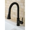 Kingston Brass Concord Gourmetier Single Handle Kitchen Faucet with Pull Down Spout