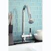 Kingston Brass Kaiser Gourmetier Single Handle Pull-Down Spray Kitchen Faucet
