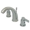 Kingston Brass NuVo Fusion Double Handle Widespread Bathroom Sink Faucet with Retail Pop-up