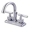 Kingston Brass Claremont Double Handle Centerset Bathroom Faucet with Brass Pop-Up Drain