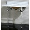 """Kingston Brass Templeton 36"""" Fauceture Console Sink with Overflow"""