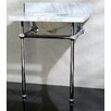 """Kingston Brass Templeton 30"""" Fauceture Console Sink with Overflow"""