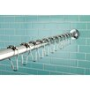 Kingston Brass Edenscape Kingston Brass Adjustable 60-72 Inch Shower Curtain Rod with Shower Curtain Roller Ball Rings