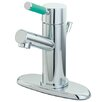 Kingston Brass Green Eden Single Handle Bathroom Faucet with Cover Plate