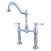 Kingston Brass Victorian Double Handle Widespread Vessel Sink Faucet